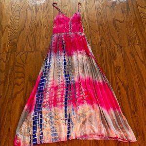 ASOS tie dye petite maxi dress